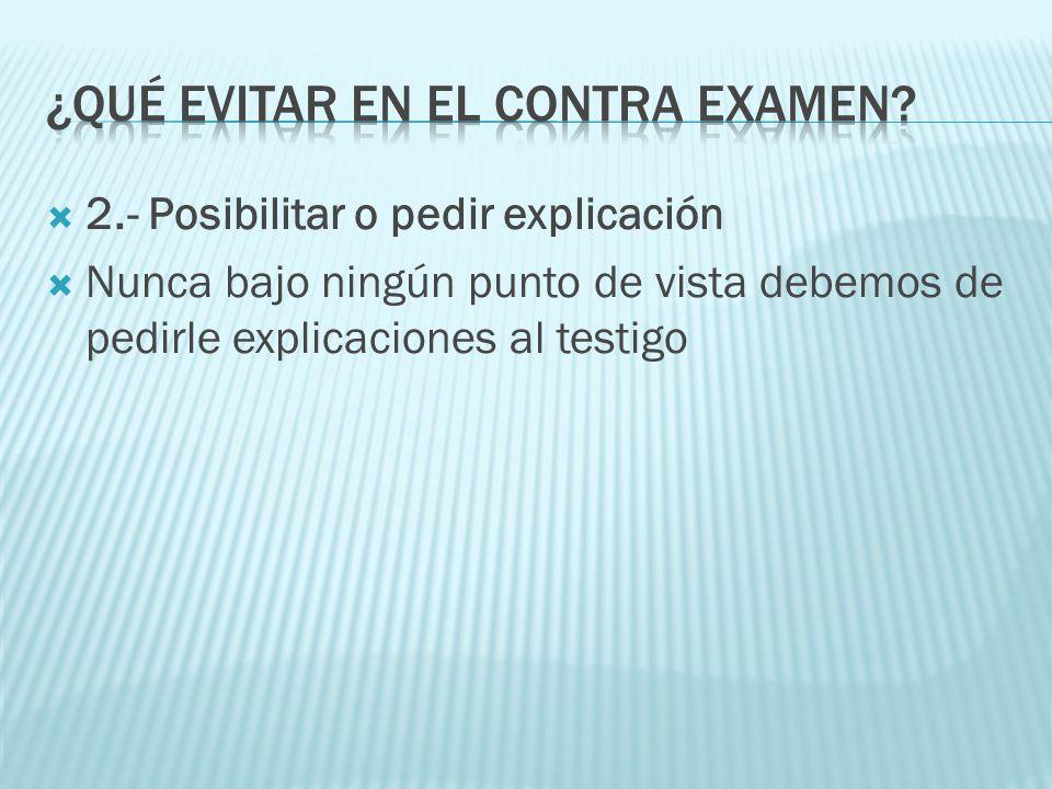 ¿Qué evitar en el contra examen
