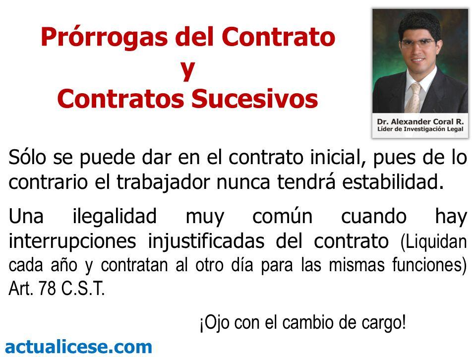 Prórrogas del Contrato