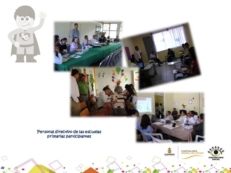 Personal directivo de las escuelas primarias participantes