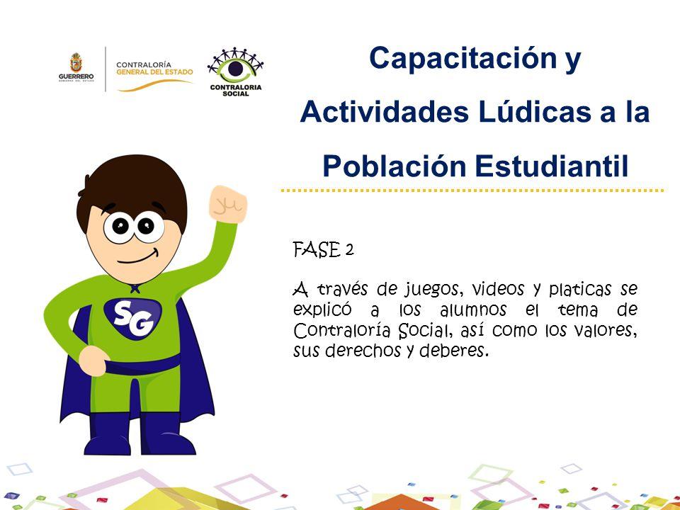 Actividades Lúdicas a la Población Estudiantil