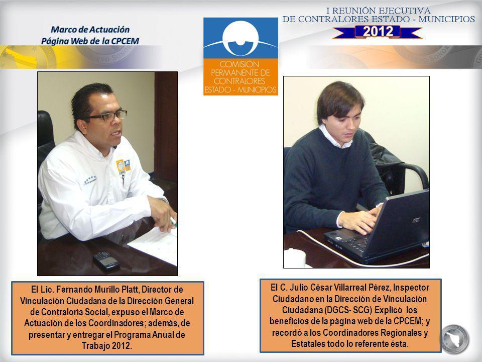 2012 Marco de Actuación Página Web de la CPCEM