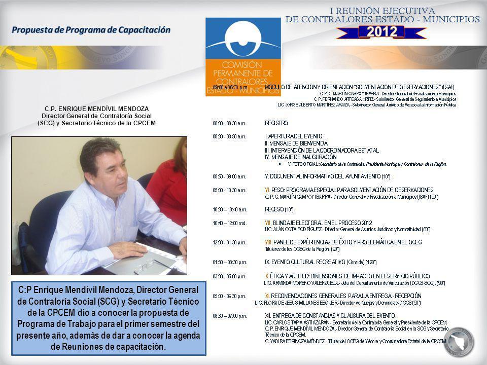 Propuesta de Programa de Capacitación C.P. ENRIQUE MENDÍVIL MENDOZA