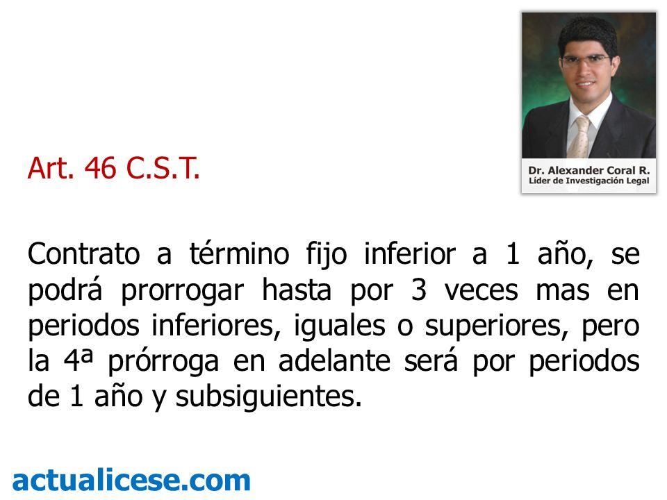 Art. 46 C.S.T.