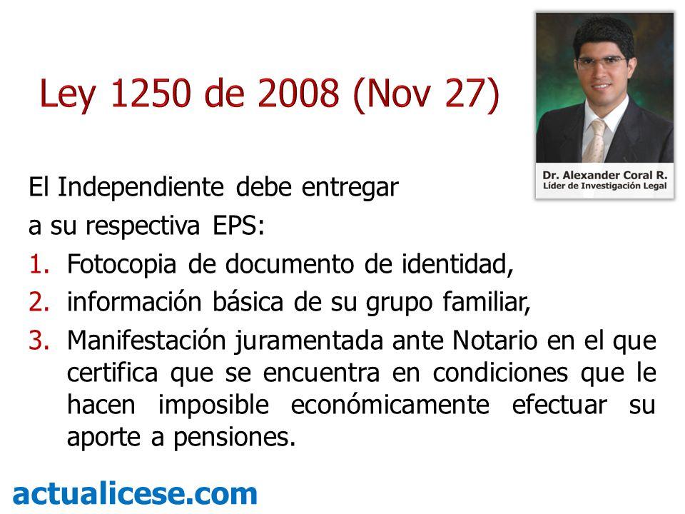 Ley 1250 de 2008 (Nov 27) actualicese.com