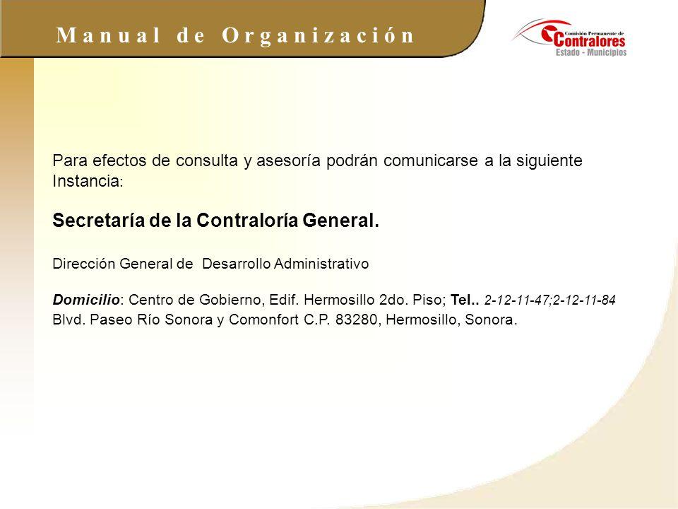 Secretaría de la Contraloría General.