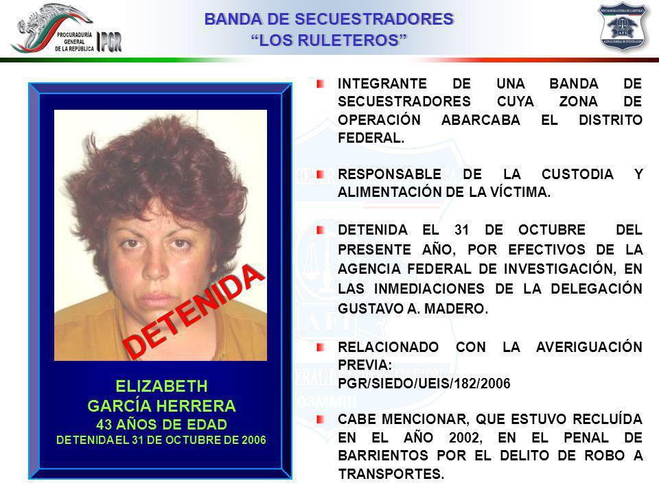 DETENIDA EL 31 DE OCTUBRE DE 2006