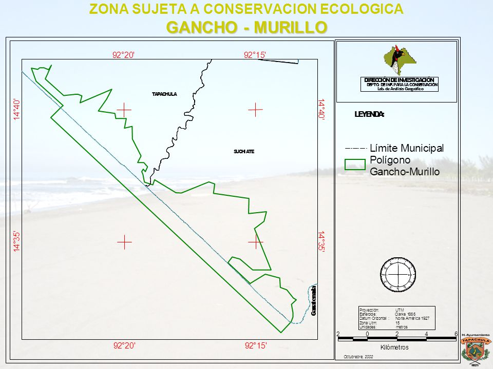 ZONA SUJETA A CONSERVACION ECOLOGICA GANCHO - MURILLO