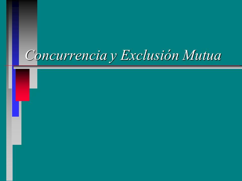 Concurrencia y Exclusión Mutua