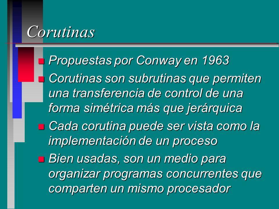 Corutinas Propuestas por Conway en 1963