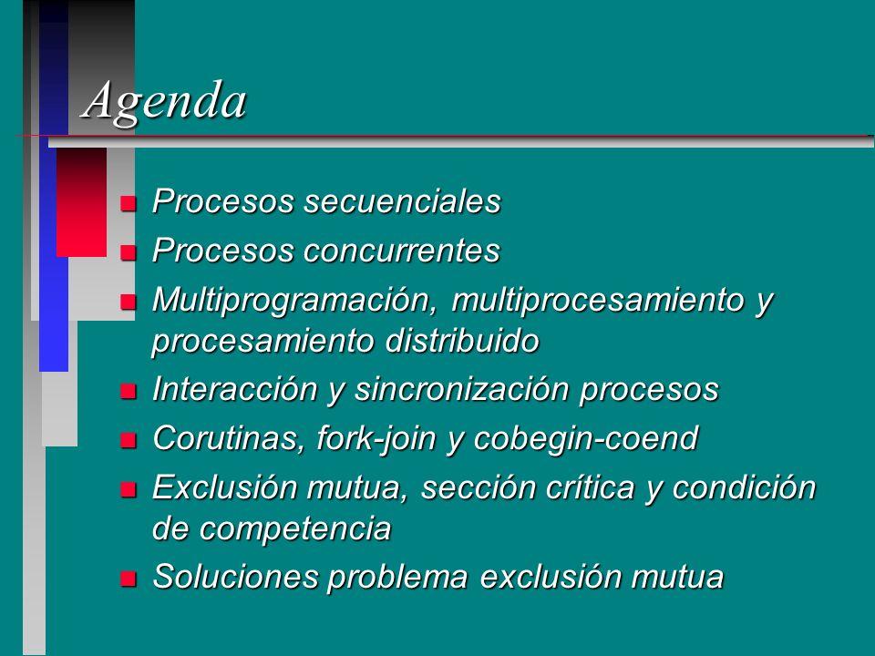 Agenda Procesos secuenciales Procesos concurrentes