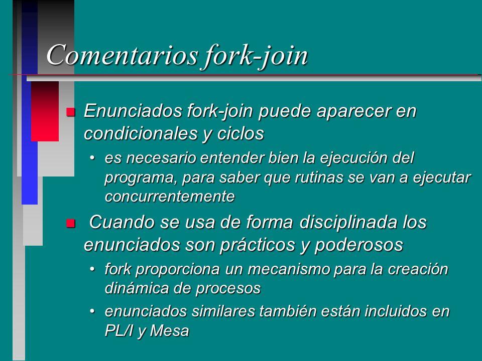 Comentarios fork-join