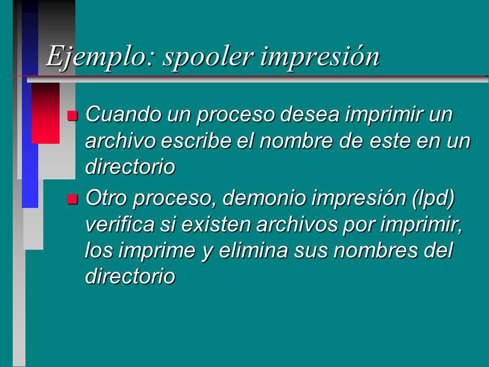 Ejemplo: spooler impresión