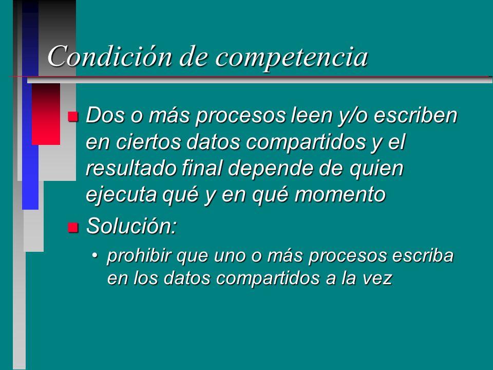 Condición de competencia