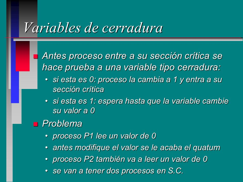 Variables de cerradura