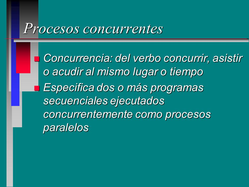 Procesos concurrentes
