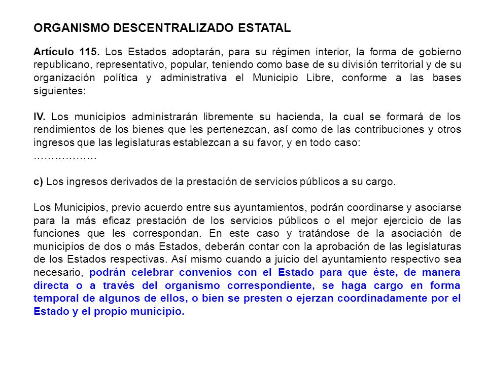 ORGANISMO DESCENTRALIZADO ESTATAL