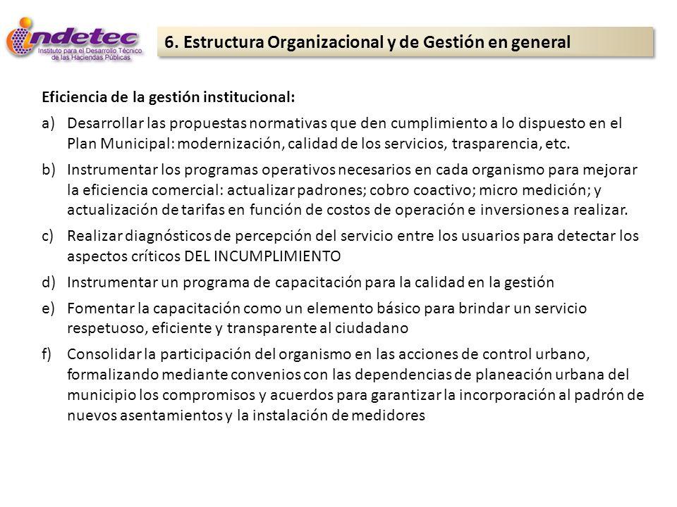 6. Estructura Organizacional y de Gestión en general