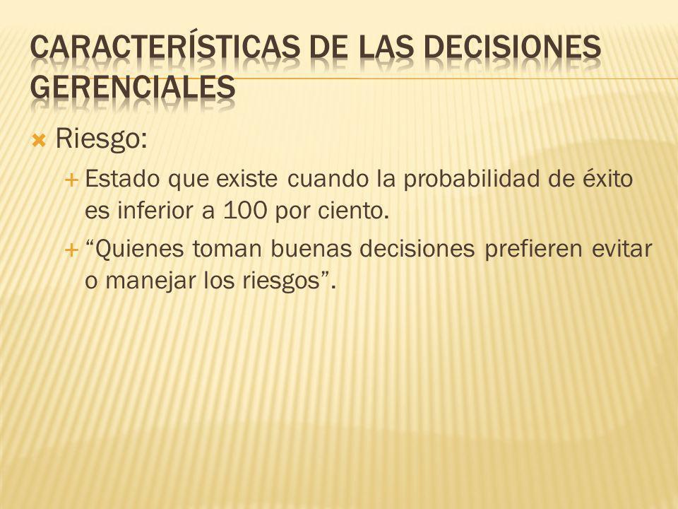 Características de las decisiones gerenciales