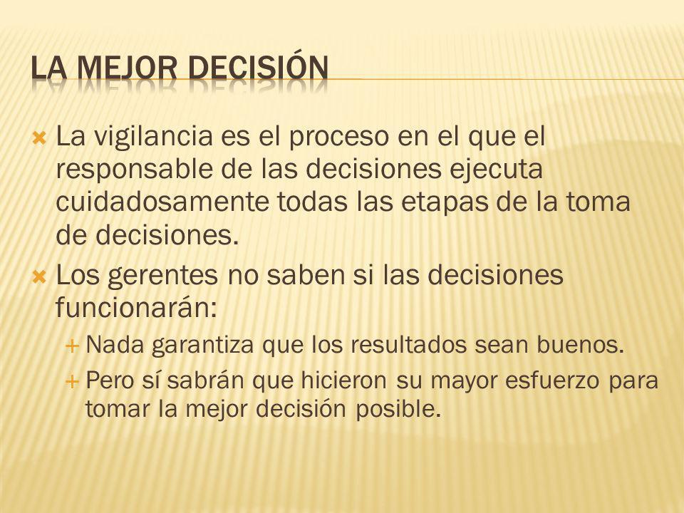 La mejor decisión
