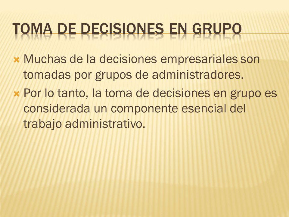 Toma de decisiones en grupo