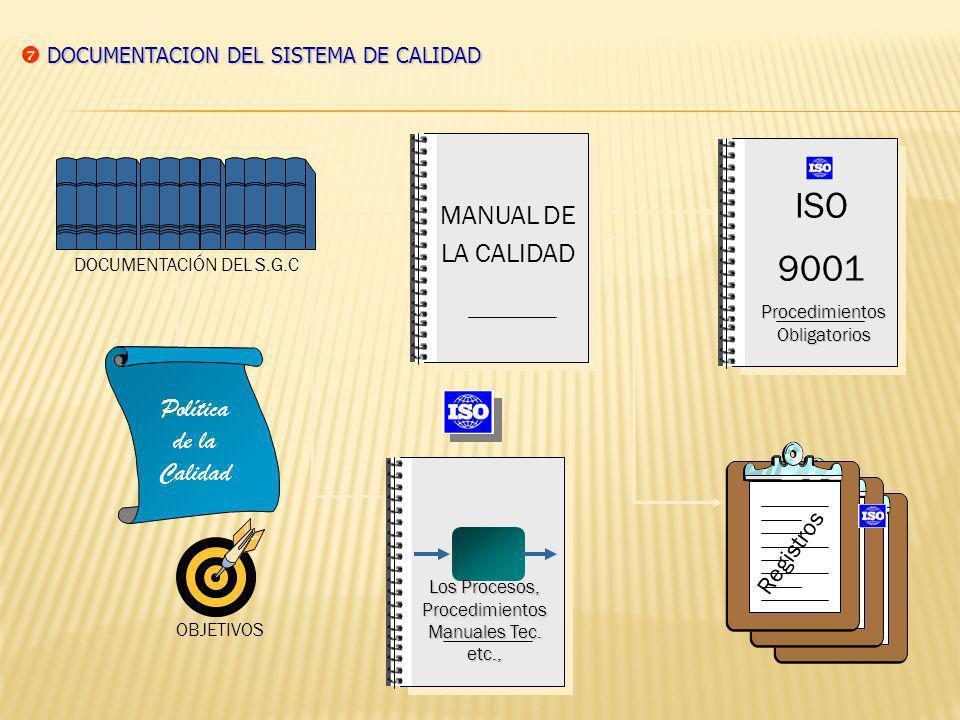 ISO 9001 MANUAL DE LA CALIDAD Política de la Calidad