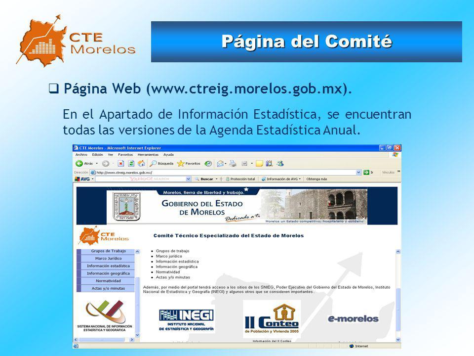 Página del Comité Página Web (www.ctreig.morelos.gob.mx).