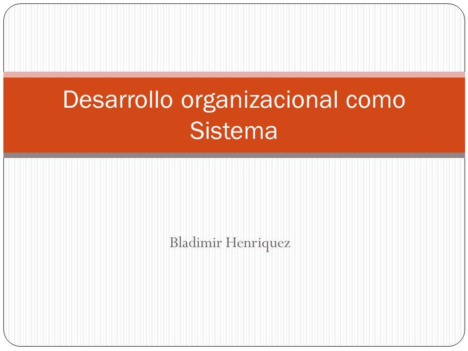 Desarrollo organizacional como Sistema