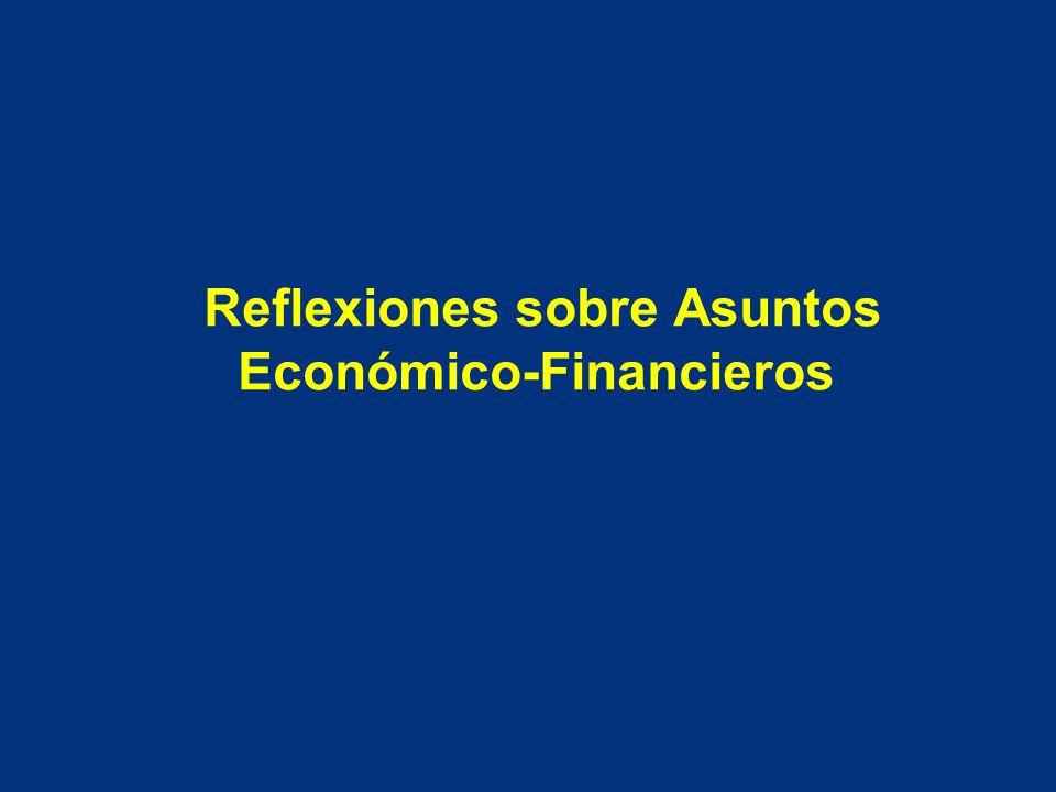 Reflexiones sobre Asuntos Económico-Financieros