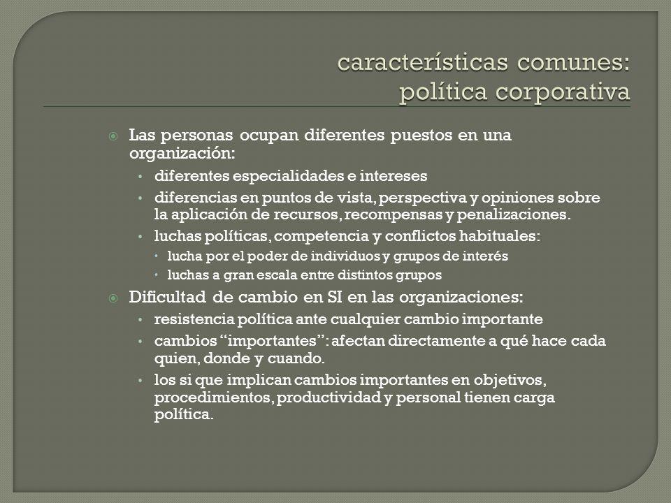 características comunes: política corporativa