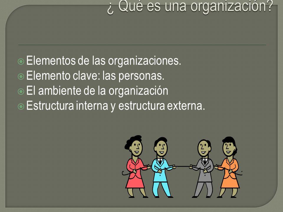 ¿ Qué es una organización