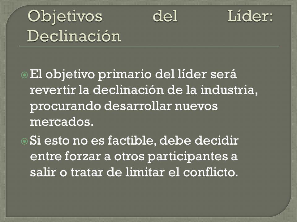 Objetivos del Líder: Declinación