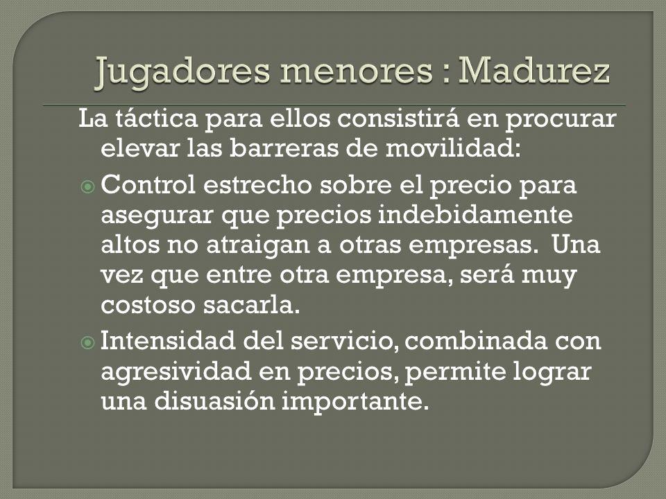 Jugadores menores : Madurez