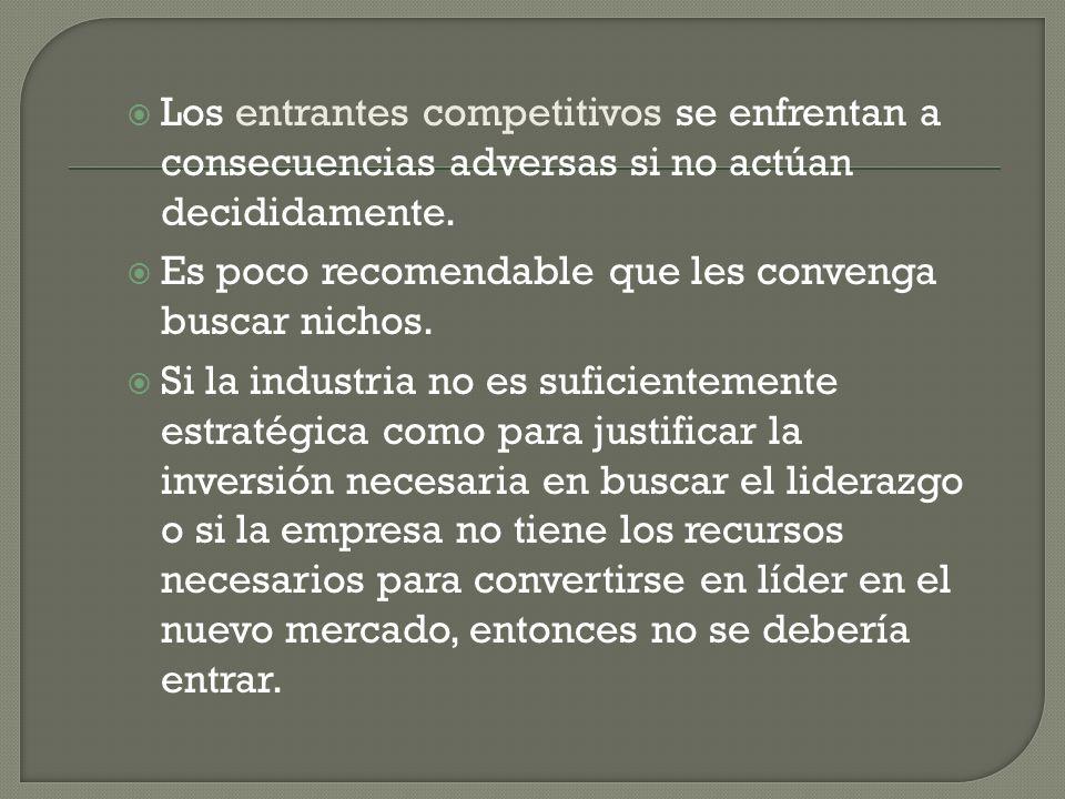 Los entrantes competitivos se enfrentan a consecuencias adversas si no actúan decididamente.