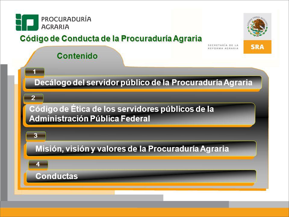 Código de Conducta de la Procuraduría Agraria