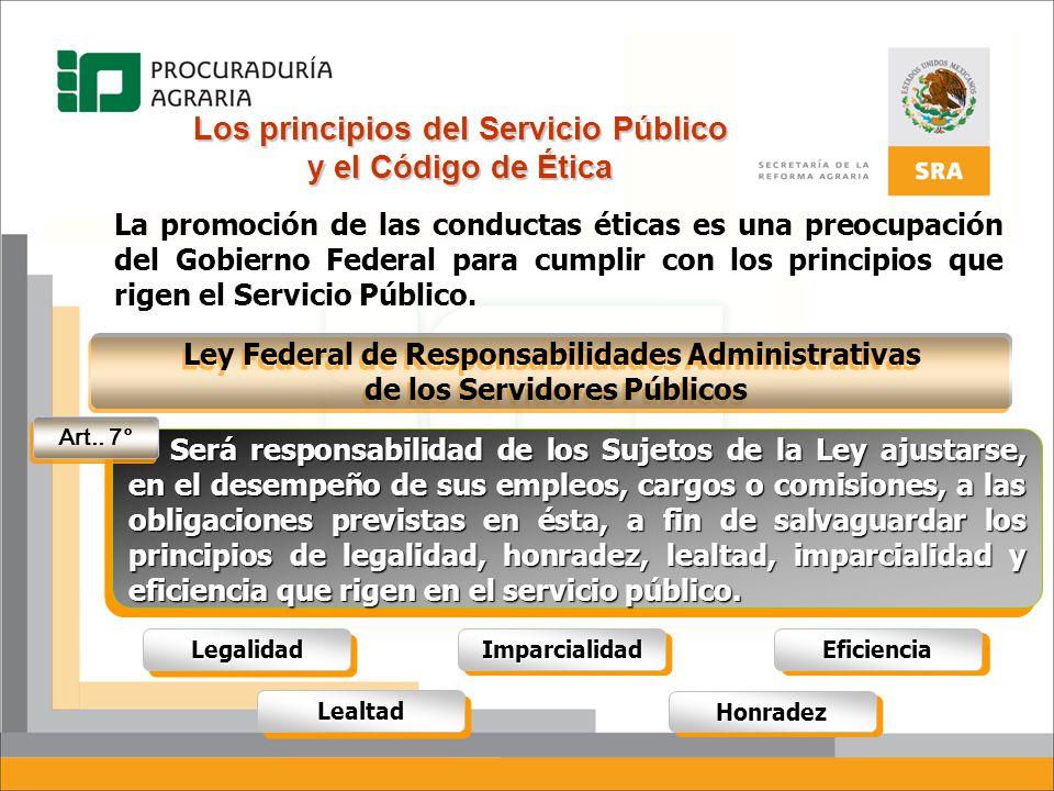 Los principios del Servicio Público y el Código de Ética