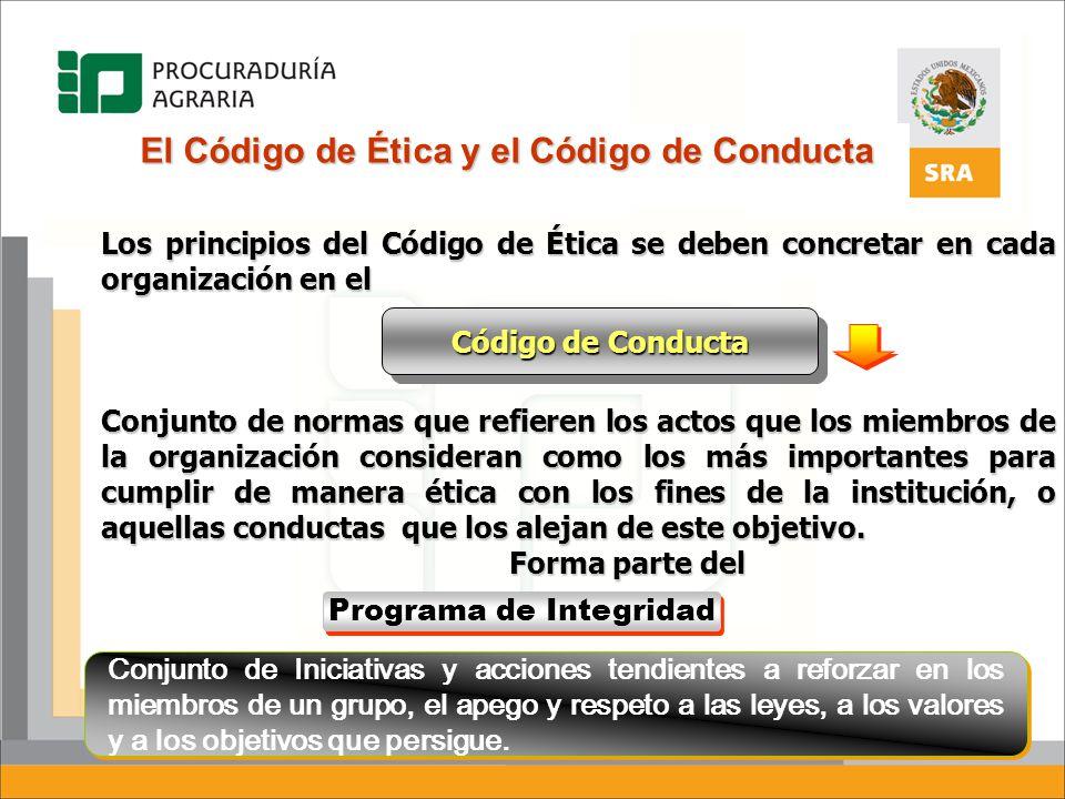 El Código de Ética y el Código de Conducta