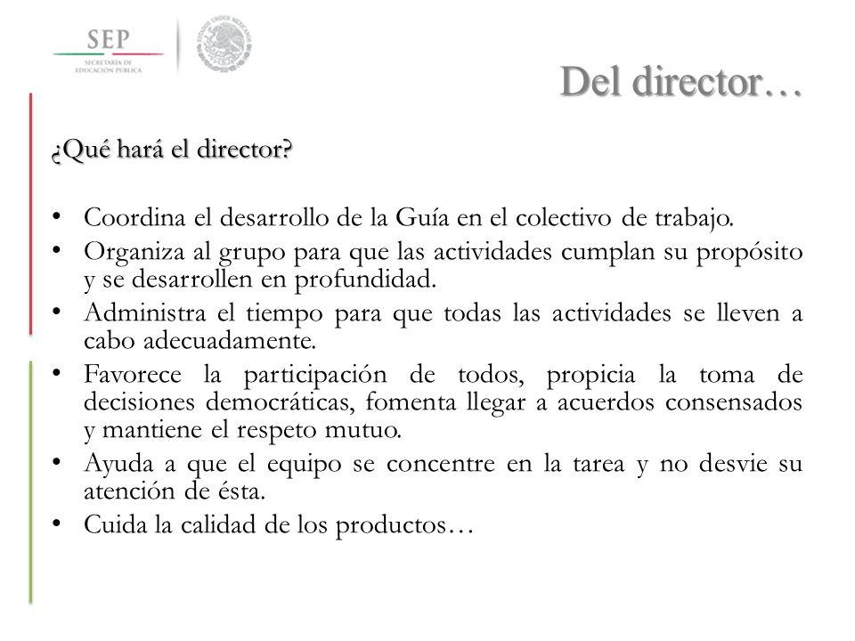 Del director… ¿Qué hará el director