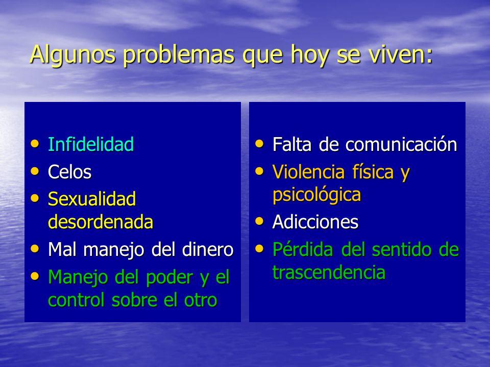 Algunos problemas que hoy se viven: