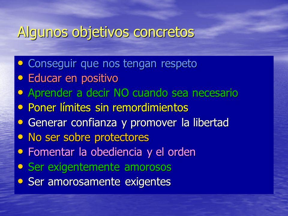 Algunos objetivos concretos