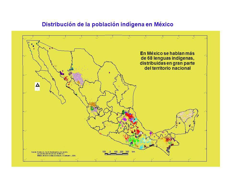 Distribución de la población indígena en México