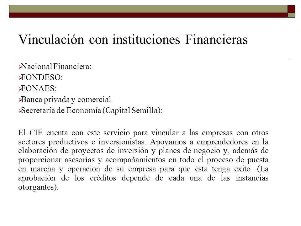 Vinculación con instituciones Financieras
