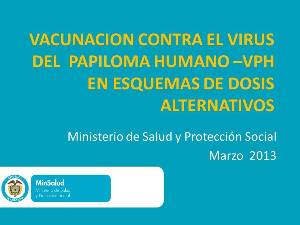 Ministerio de Salud y Protección Social Marzo 2013