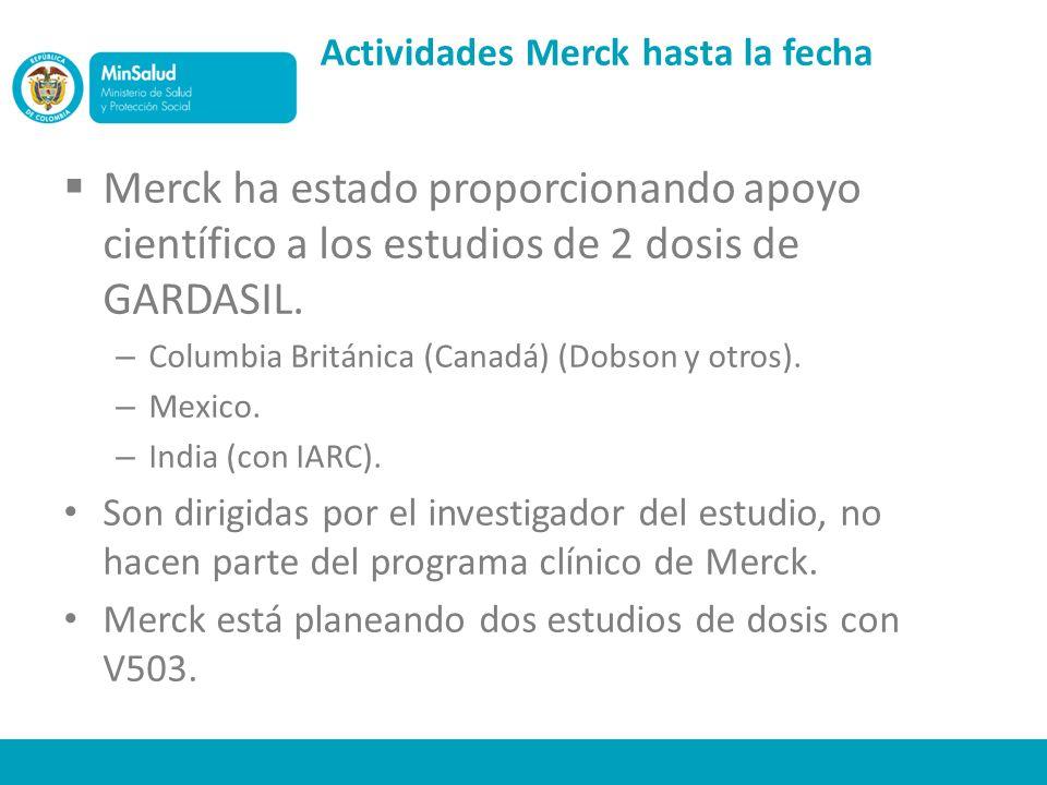 Actividades Merck hasta la fecha