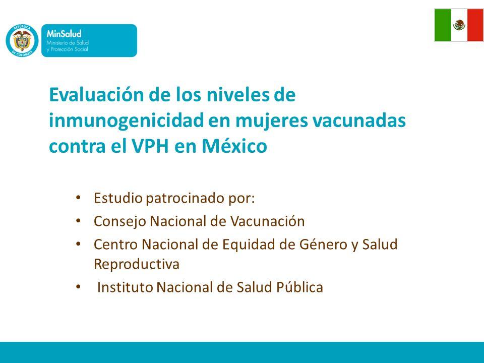 Evaluación de los niveles de inmunogenicidad en mujeres vacunadas contra el VPH en México