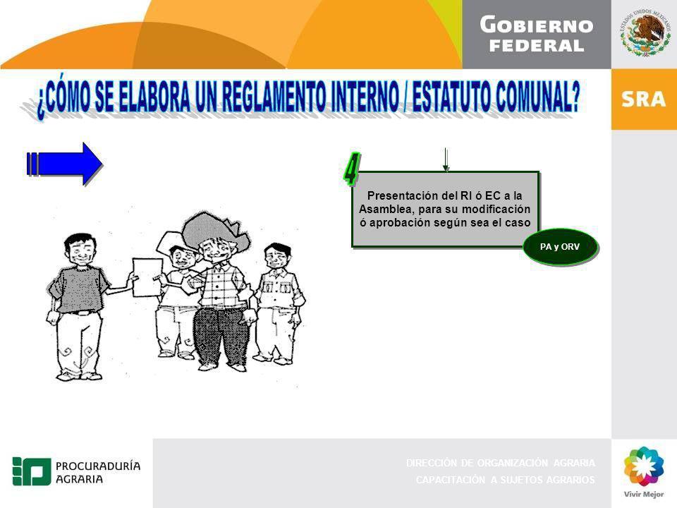 4 ¿CÓMO SE ELABORA UN REGLAMENTO INTERNO / ESTATUTO COMUNAL