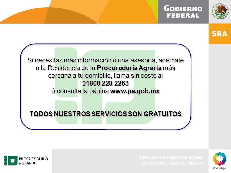 TODOS NUESTROS SERVICIOS SON GRATUITOS
