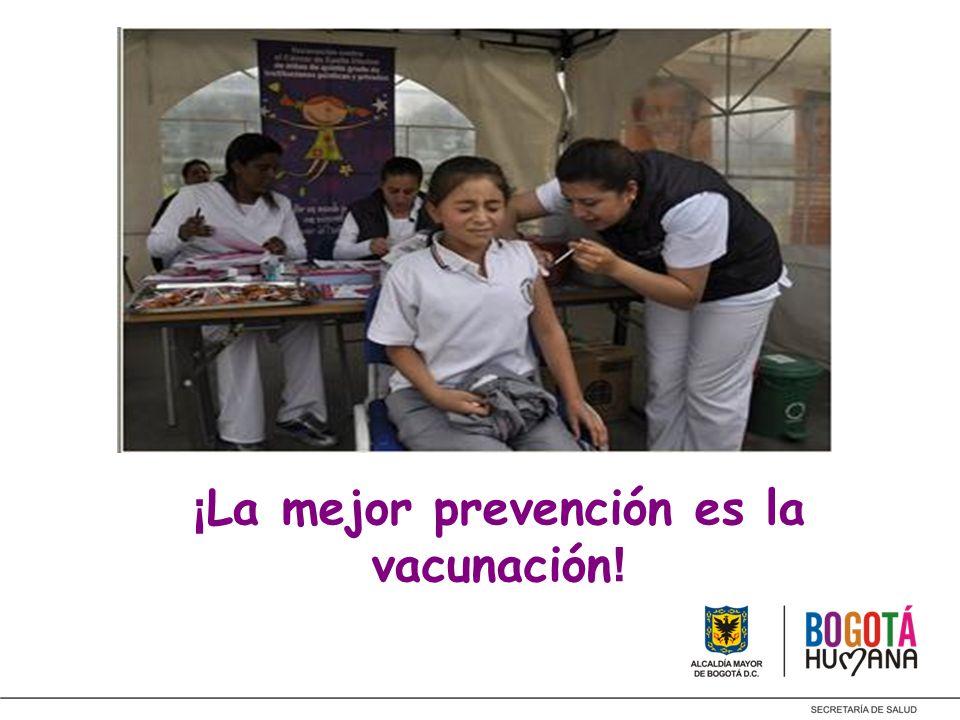 ¡La mejor prevención es la vacunación!