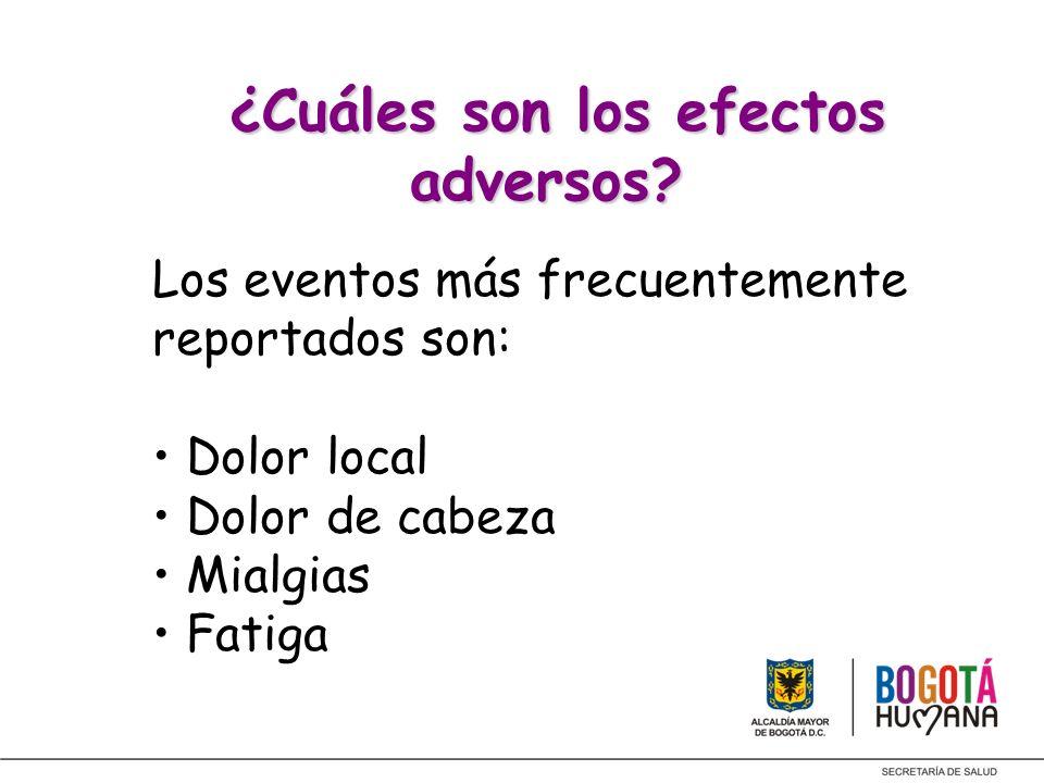 ¿Cuáles son los efectos adversos