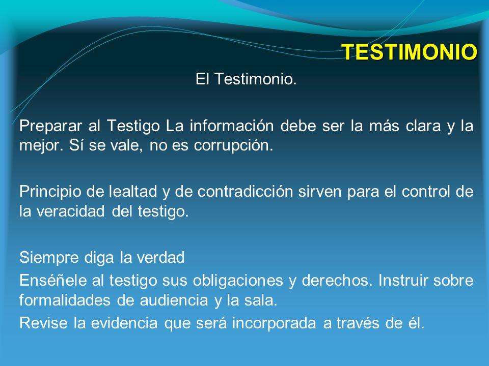TESTIMONIO El Testimonio.