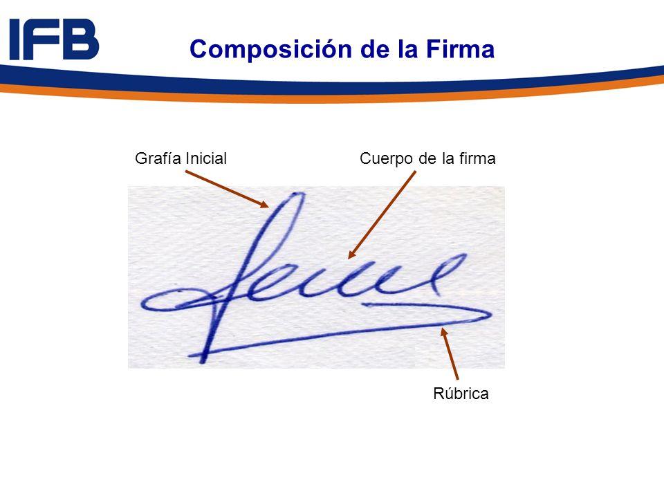 Composición de la Firma